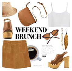 """""""Weekend Brunch ~ YDN Shoes"""" by alexandrazeres ❤ liked on Polyvore featuring Monki, A.P.C., Helen Kaminski, 16, fsjshoes, YDNshoes and YDN"""