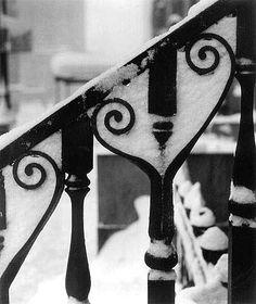 Ida Wyman: Wrought Iron in Snow, New York, 1947
