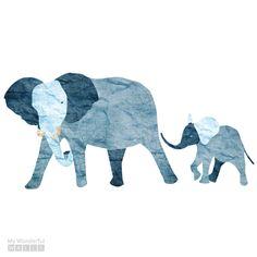 Éléphant et bébé éléphant Wall Sticker Decal pour Jungle thème peinture murale (sku:118-bâton-17) par MyWallStickers sur Etsy https://www.etsy.com/fr/listing/187797619/elephant-et-bebe-elephant-wall-sticker