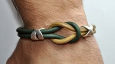FREE SHIPPING  Mens Bracelet Leather Men Bracelet by FosforStore, $27.00
