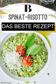 Spinach Recipes, Vegetarian Recipes, Healthy Recipes, Spinach Risotto, Guacamole, Food Inspiration, Healthy Snacks, Food Porn, Good Food