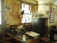 Reproduction of office of first Beatles producer
