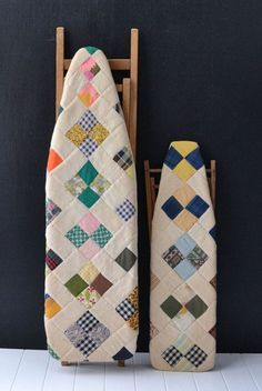 Vintage ironing boards quilted covers via etsy.com