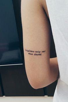 La felicidad sólo es real cuando  se comparte