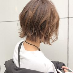 Pin on ショートヘア Hair Inspo, Hair Inspiration, Asian Bob Haircut, Short Hair Cuts, Short Hair Styles, Hair Doo, Pinterest Hair, Asian Hair, Short Bob Hairstyles