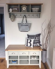Grey Hallway, French Grey, Furniture Companies, Entryway Bench, This Is Us, Shabby Chic, Colours, Rustic, Storage