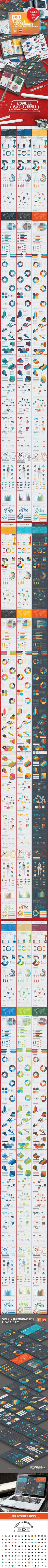 Bundle 9 in 1 Infographics Elements - Infographics