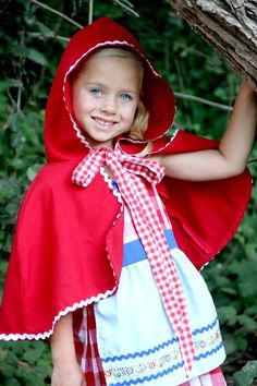 Little Red Riding Hood CAPE Storybook red CAPE for girls perfect to accent your Red Riding Hood costume - Kidfolio - the app for parents - kidfol.io