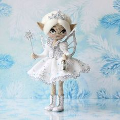 Gorgeous white amigurumi  fairy doll. WEBSTA @ adudakova