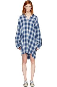 R13 - Blue Plaid Axl Button-Down Shirt