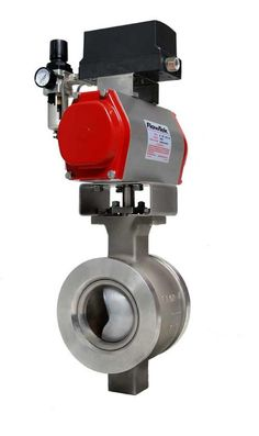 The Flow-Tek series 19 segmented ball valve utilizes a splined stem and V-port ball segment to enable a 300:1 accuracy of rangeability. Metal and soft seats are pressure-energized to enable excellent sealing during low differential pressures. End post and stem bearings are offered with thick-walled metal or composed of PTFE compound supported by metal fabric, all of which offer low friction and maintenance-free operation. http://www.dacriswell.com/valveautomationsolutions.html