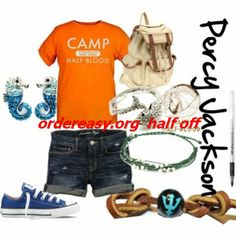 """Perseus """"Percy"""" Jackson- Percy Jackson and the Olympians by Rick Riordan Percy Jackson Outfits, Percy Jackson Fandom, Camp Half Blood Shirt, Blue Converse, Cheap Converse, Converse Shoes, Wise Girl, Fandom Fashion, Fandom Outfits"""
