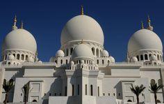 The Sheikh Zayed Mosque, in Abu Dhabi, United Arab Emirates