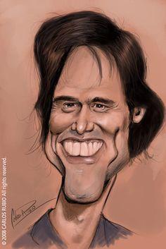 Funny Celebrities Caricatures | 92pixels  JIM CARREY
