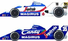 1984 Toleman Hart TG183B compared to the 1983 version.