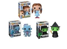 Funko Pop Wizard of Oz Dorothy, Wicked Witch, Flying Monkey 3 Piece Vinyl Figure Set by Funko. $24.99. Each figure approximately 4 inches tall. Return to Oz with this cute Pop! Vinyl mini-figure set!. Each figure comes in a full color collector's box. Set includes Dorothy, Wicked Witch & Flying Monkey.