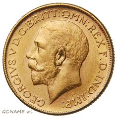 Australia Melbourne 1917 Sovereign George V Gold Oro Or #402