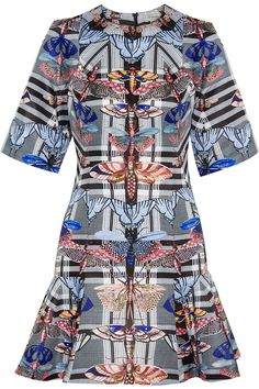 TEMPERLEY LONDON Arielle printed satin-twill mini dress. #temperleylondon #cloth #dress