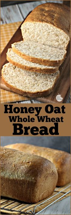 Honey Oat Whole Wheat Bread | by Renee's Kitchen Adventures -Great healthy recipe for an easy whole grain bread that bakes up soft and delicious! Pair it with soup for the perfect winter dinner. #EatLightEatRight ad