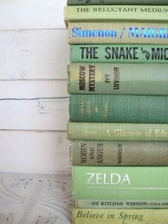 Green Books Instant Library Collection by sorrythankyou79 on Etsy, $55.00