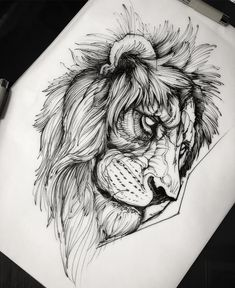 17 Trendy Ideas For Tattoo Geometric Bird Tat Lion Tattoo Design, Sketch Tattoo Design, Tattoo Sketches, Tattoo Drawings, Tattoo Designs, Lion Head Tattoos, Leo Tattoos, Sleeve Tattoos, Tattoo Ideas