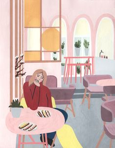 Free Illustrations, Illustration Art, Cute Food Wallpaper, Storyboard, Lonely, Behance, Notebook, Kids Rugs, Rooms