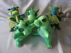 Baby Stuffed Toy Dragon by CATsThisAndThat on Etsy