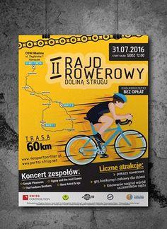 #Plakat - jeden z materiałów promujących II #Rajd #Rowerowy Doliny Strugu Books, Poster, Design, Libros, Book, Book Illustrations, Billboard, Libri