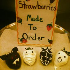Come get one of our scary chocolate covered strawberries  farrisandfosters.com