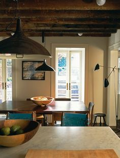 Julianne Moore's West Village Townhouse Kitchen. Love everything