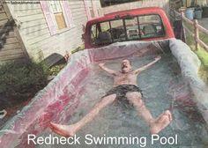 pick up truck swimming...