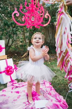 'Leah' Tutu Romper for a first birthday party, cake smash or wedding
