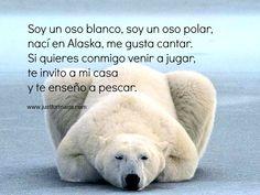 Rimas cortas para niños: Oso polar