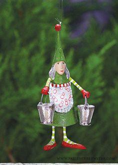 Mini Maid A Milking Ornament