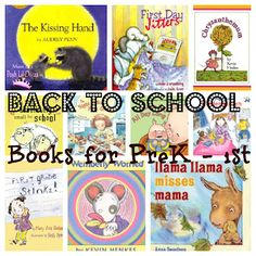 Back to School themed books for Preschool thru First Grade. Great for parents to use as discussion starters for nervous kids. Are your kids nervous about going back or starting school?