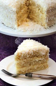 Coconut Cake - Reminds me of my MaMarie, she made the best coconut cake hands…