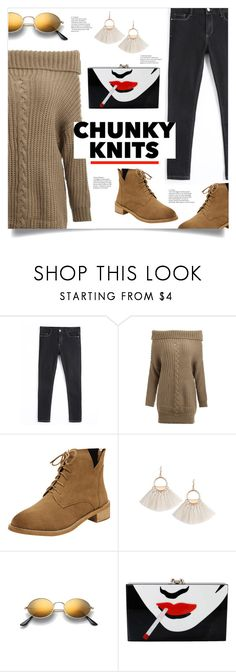 """""""Get Cozy: Chunky Knits"""" by mahafromkailash ❤ liked on Polyvore featuring Charlotte Olympia"""