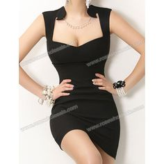 Sexy Style Sleeveless Solid Color Packet Buttock Slimming Dress For Women