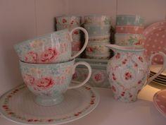 GreenGate Teacups Lulu, Creamer Doris White