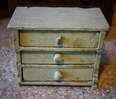 Toy/child size Antique Primitive Painted Dresser