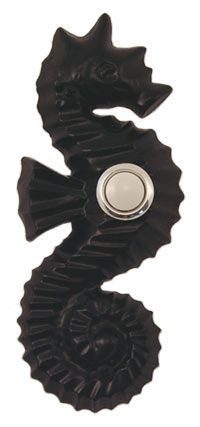 Waterwood Hardware Decorative Seahorse Doorbell- Black from Cabinet Knobs and More