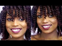 How To Bantu Knot Tutorial With Extensions On Short Natural Hair - YouTube