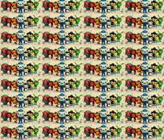 Octonauts making a splash Compassarific fabric by angeltirrell-voss on Spoonflower - custom fabric