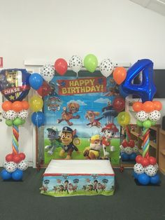 Paw Patrol 4th Birthday Balloon Arch