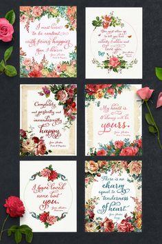 Free Jane Austen Quote Printables   Teepee Girl