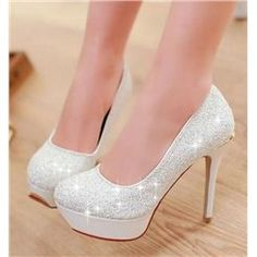 Vintage Celebrity Blue Paillette Unique Stilette Heel Popular Prom Shoes I've wanted these sexy UGG forever. Low Heel Shoes, Pumps Heels, Wedge Shoes, Stiletto Heels, Glitter Heels, Sparkly Pumps, White Glitter, Shoes 2018, Prom Heels