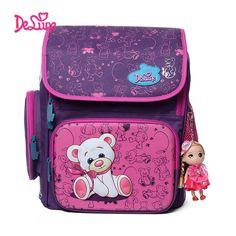 2847130b47 Cartoon Bear Butterfly Printing Kids Satchel Children School Bags  Orthopedic Backpacks Durable School Backpacks Mochila Escolar