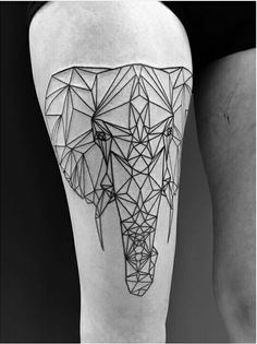 Half on me, half on my brother who wants to do a tattoo together with me... Elephant geometric