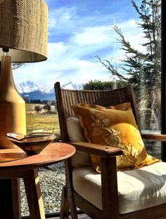 Dijon snail trail enhancing the view in Queenstown New Zealand. Get the kit at birdiebrown.co.nz Applique Cushions, Wool Applique, Outdoor Chairs, Outdoor Furniture, Outdoor Decor, Queenstown New Zealand, Wingback Chair, Embroidery Applique, Snail