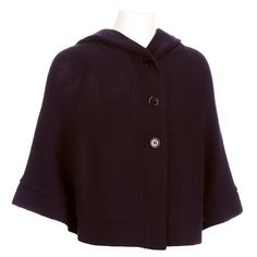Girls uniform hooded sweater cape in navy...what a fun find for a school uniform...